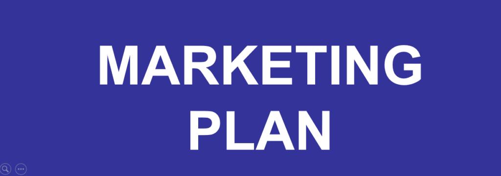 Banner for marketing plan