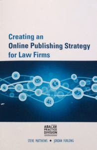 Creating an online publishing strategy for law firms book cover