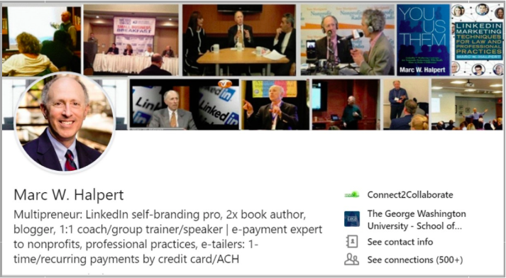 Marc Halpert LinkedIn for lawyers example